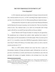 THE NEW INDONESIAN INVESTMENT LAW - Erman dan Hukum
