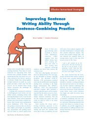 Improving Sentence Writing Ability Through Sentence-Combining ...