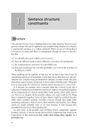 1 Sentence structure: constituents