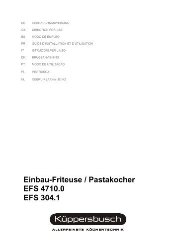 EFS 4710.0-304.1 Friteuse