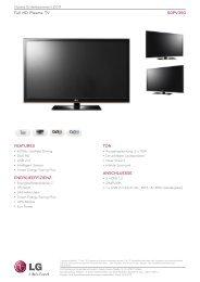 HomeEntertainment2011 FullHDPlasmaTV ... - LG Electronics