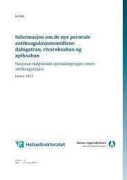 Informasjon om de nye perorale ... - Helsedirektoratet