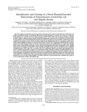 Identification and Cloning of a Novel Plasmid-Encoded Enterotoxin ...
