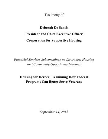 CSH - House Committee on Financial Services