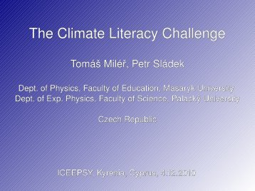 The Climate Literacy Challenge - Amper
