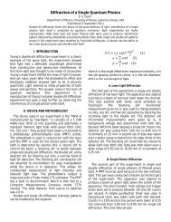 Quantum Interference - University of Kansas