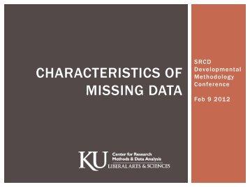 CHARACTERISTICS OF MISSING DATA