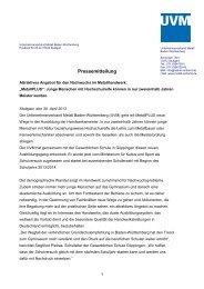 Pressemitteilung MetallPLUS - Unternehmerverband Metall Baden ...