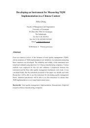 Developing an Instrument for Measuring TQM Implementation in a ...