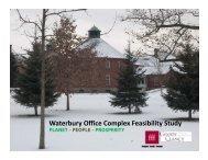 Waterbury Office Complex Feasibility Study Presentation Handout
