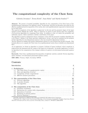 The computational complexity of the Chow form