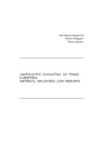 arithmetic geometry of toric varieties. metrics, measures and heights