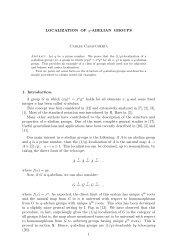 LOCALIZATION OF q-ABELIAN GROUPS Carles Casacuberta 1 ...