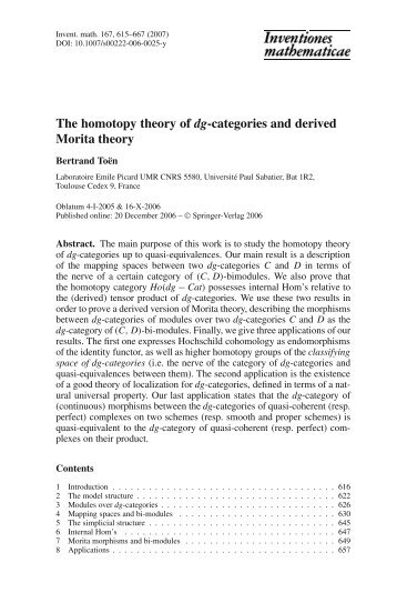 The homotopy theory of dg-categories and derived Morita theory
