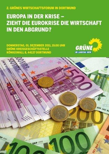 zieht die eurokrise die wirtschaft in den abgrund? - Daniela ...