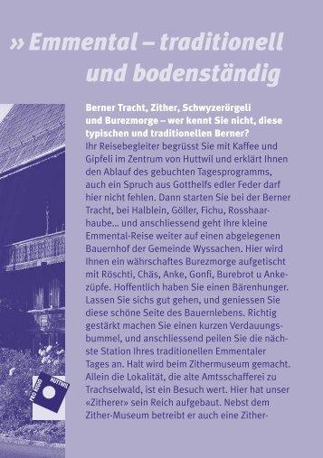 Emmental traditionell und bodenständig (PDF)