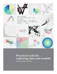 Practical tools for exploring data and models - Hadley Wickham