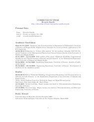 CURRICULUM VITAE Personal Data Academic Curriculum Studies ...