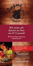 Steakhaus & Pizzeria Angus - Speisekarte