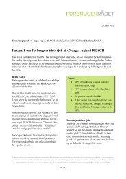 Se Forbrugerrådets undersøgelse fra 2010 (pdf) - Tænk