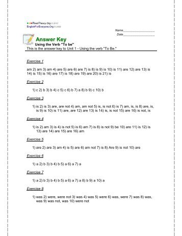 Answer Key - English for Everyone