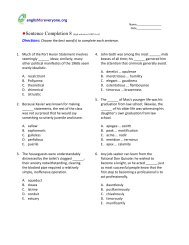 Sentence Completion 17 - English for Everyone
