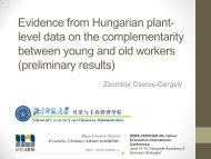 Evidence from Hungarian plant- level data on the complementarity ...