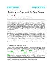 Relative Node Polynomials for Plane Curves