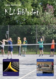 Varde - sæson 2012 - Jyllands Tennis Union