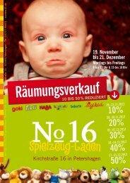 Flyer Räumungsverkauf Weihnachten 2012 (PDF) - Numero 16