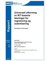 Universell utforming av IKT-baserte løsninger for registrering og ...