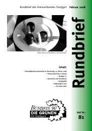 Inhalt: Februar 2008 Rundbrief des Kreisverbandes ... - Grüne Stuttgart