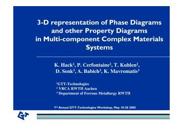 3-D representation of Phase Diagrams and other Property Diagrams ...