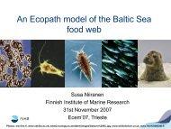 An Ecopath model of the Baltic Sea food web
