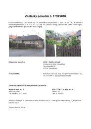 Znalecký posudek ć. 1759/2010 - Sreality.cz