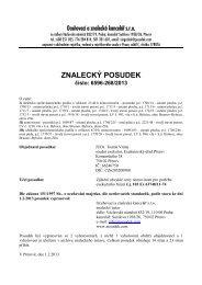 ZNALECKÝ POSUDEK číslo: 6596-268/2013 - Sreality.cz