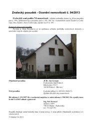 Znalecký posudek - Ocenění nemovitosti č. 94/2013 - Sreality.cz