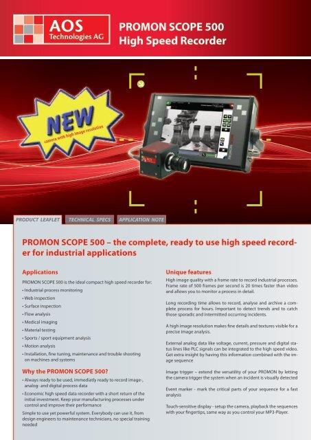 PROMON SCOPE 500 High Speed Recorder - AOS Technologies AG