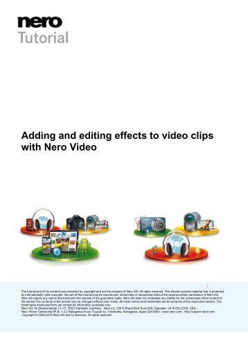 Adding and editing effects to video clips with Nero Video