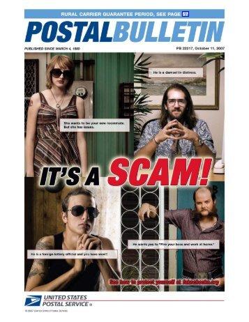 Postal Bulletin 22217 - October 11, 2007 - USPS.com® - About
