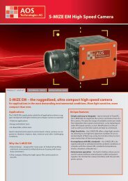 S-MIZE EM High Speed Camera - AOS Technologies AG