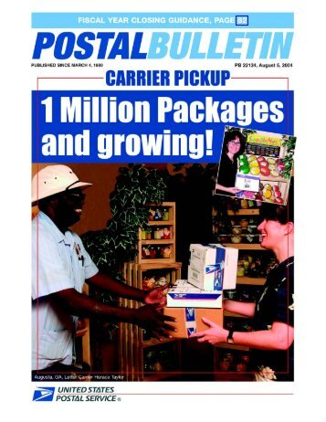 Postal Bulletin 22134 - August 5, 2004 - USPS.com® - About
