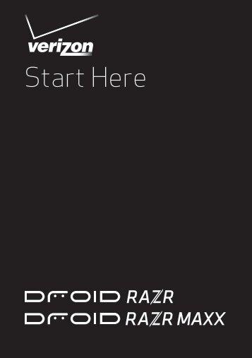 Verizon Droid RAZR/RAZR MAXX ICS Getting ... - Motorola Support