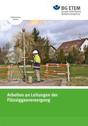 Arbeiten an Leitungen der Flüssiggasversorgung - BG ETEM B-EW