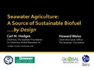 Seawater Agriculture: A Source of Sustainable Biofuels