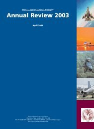 2003 Annual Review - Royal Aeronautical Society