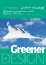 Mitigating the Environmental Impact of Aviation - Greener by Design