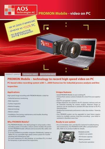 PROMON Mobile - video on PC - AOS Technologies AG
