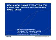 mechanical smoke extraction for large fire loads in the gotthard base ...