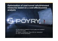Optimization of road tunnel refurbishment measures based on a cost ...
